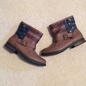 July 4th Memorial Day American flag booties